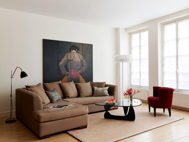 Salon contemporain - Grands Augustins - Modern - Wohnbereich ...