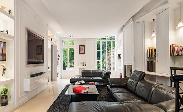 Salon contemporain - Maison à Paris - Contemporary - Living Room ...