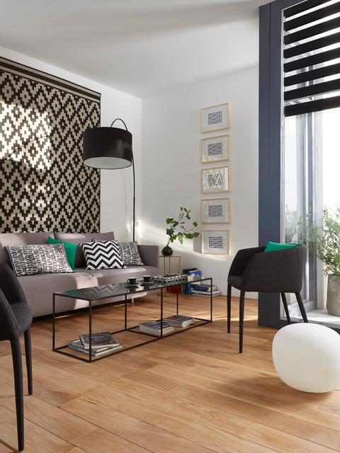 Salon Graphique En Noir Et Blanc Contemporary Living