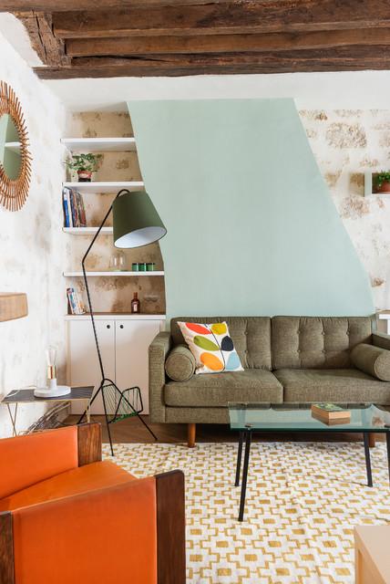 Marion Alberge salon - midcentury - living room - paris -marion alberge décoration