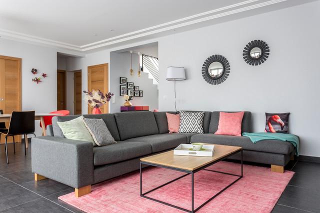 Séjour d'une maison familiale - Clásico renovado - Salón - Burdeos - de  Delphine Guyart Design | Houzz