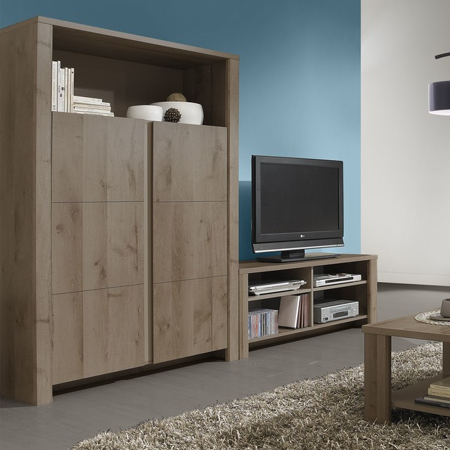 sha meuble tv bicolore moderne salon par alin a mobilier d co. Black Bedroom Furniture Sets. Home Design Ideas