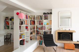 am nager l 39 espace cloisonnez malin avec une biblioth que. Black Bedroom Furniture Sets. Home Design Ideas