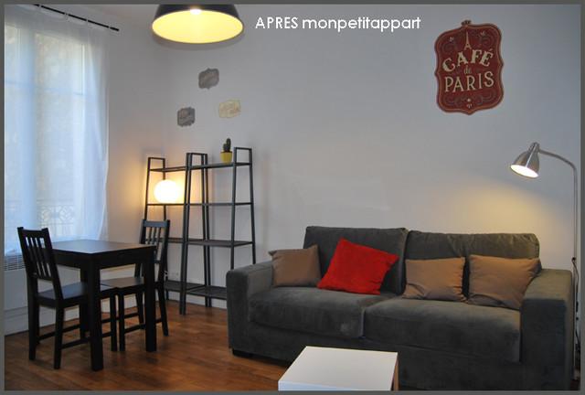 Studio de 20m2 rue du commerce paris moderne salon for Deco sejour 20m2