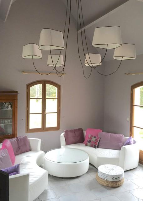 suspension xxl dans un salon contemporary living room other by atdeco. Black Bedroom Furniture Sets. Home Design Ideas