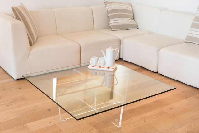 Table basse cristal modern living room other metro - Table basse plexi ...