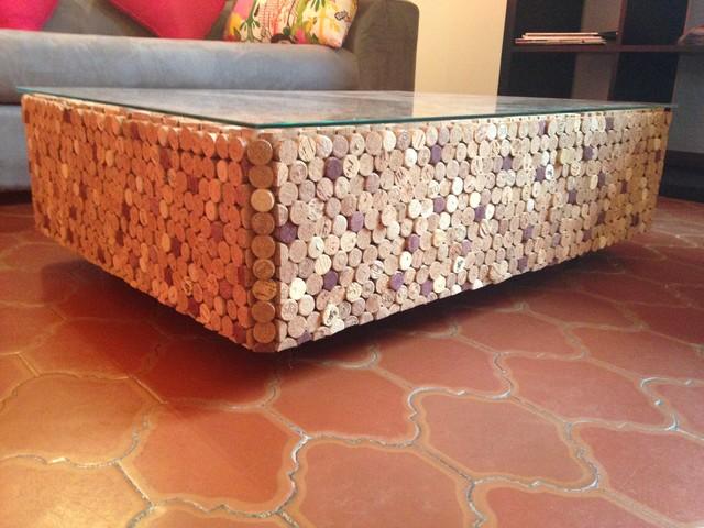 table basse en bouchon de liège - moderne - salon - marseille