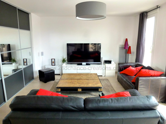 Table Basse Style Industriel Industrial Living Room