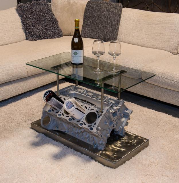 stunning table basse moteur v8 photos. Black Bedroom Furniture Sets. Home Design Ideas