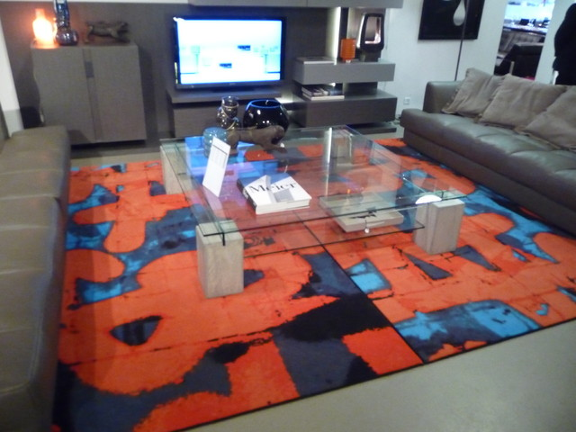 tapis pour roche bobois contemporain salon paris par galerie b. Black Bedroom Furniture Sets. Home Design Ideas