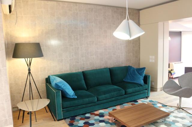 Amazing The Blue Petrol House Modern Living Room