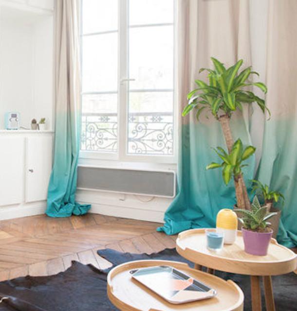 tie dye curtains rideaux tie dye. Black Bedroom Furniture Sets. Home Design Ideas