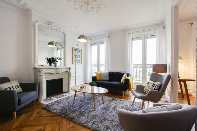 Un appartement haussmannien au go t scandinave for Decoration interieur appartement haussmannien