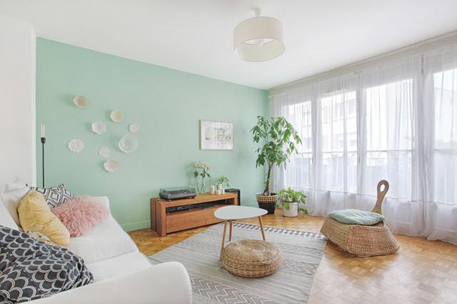 Un salon boho scandinavian living room paris by - Salon boho chic ...