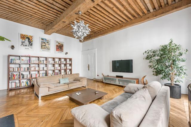 Un salon contemporain à Lyon - Modern - Wohnbereich - Lyon ...