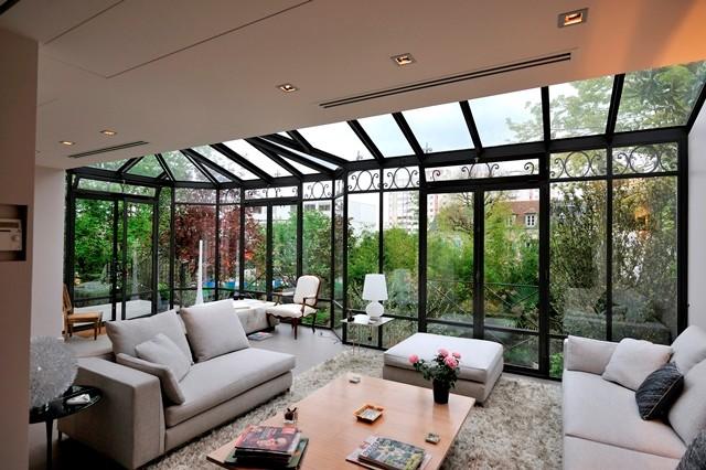 v randa de style victorien en acier et fer forg victorien salon paris par turpin. Black Bedroom Furniture Sets. Home Design Ideas