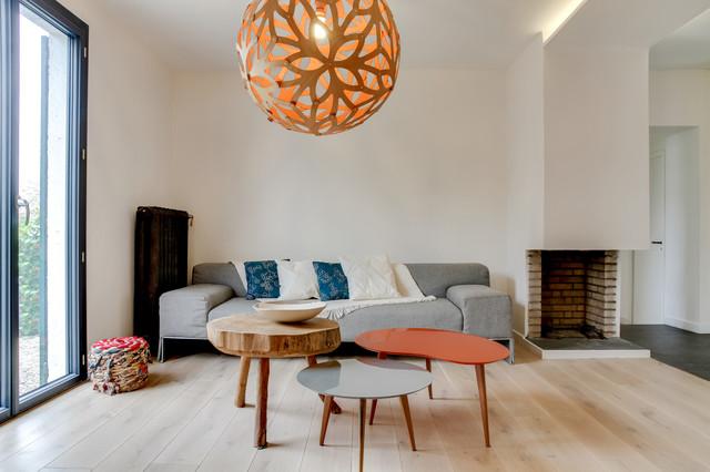s vres maison particuli re 150m2 contemporain salon paris par charlotte vauvillier. Black Bedroom Furniture Sets. Home Design Ideas
