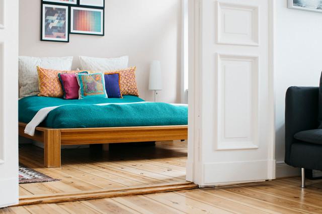 bett amorgos in eiche modern schlafzimmer berlin von holzconnection. Black Bedroom Furniture Sets. Home Design Ideas