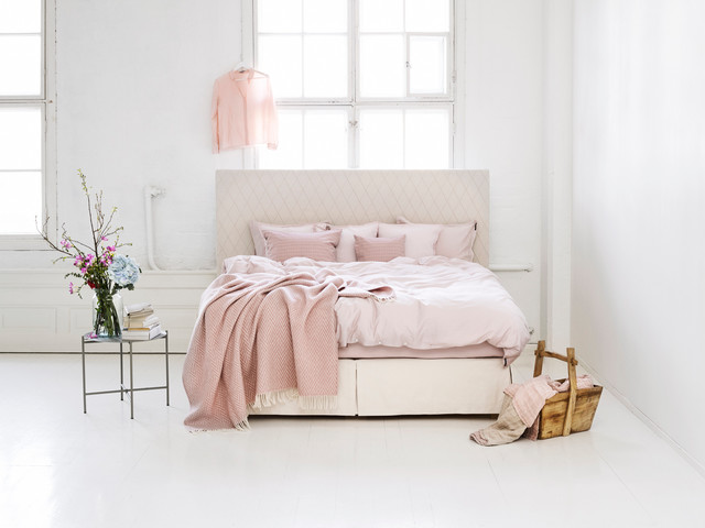 boxspringbett aurea mit half split skirt skandinavisch. Black Bedroom Furniture Sets. Home Design Ideas