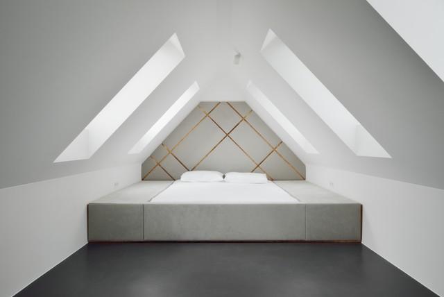 Grau-weißes Schlafzimmer - Ideen & Bilder | HOUZZ