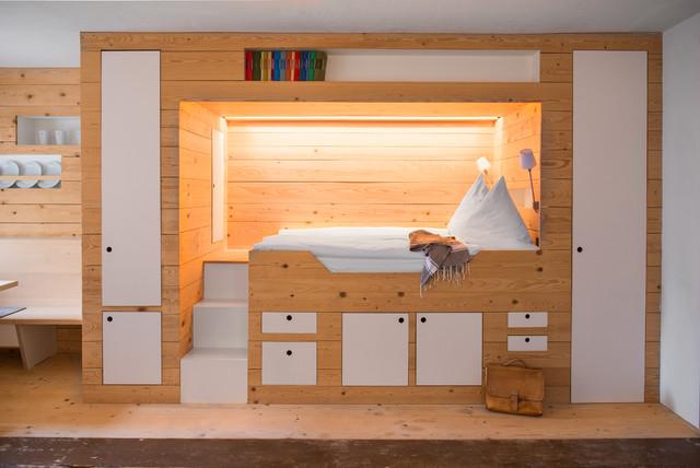 G stehaus berge minimalistisch schlafzimmer m nchen for Minimalistisch wohnen vorher nachher