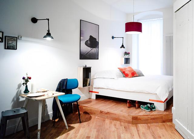 gorki apartments berlin contemporary bedroom berlin by studio sandra pauquet. Black Bedroom Furniture Sets. Home Design Ideas