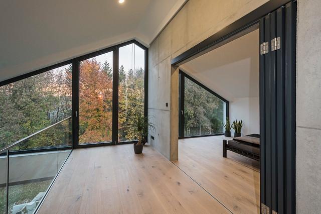 Haus_H Schlafzimmer mit Aussicht - Minimalistisch - Schlafzimmer ...