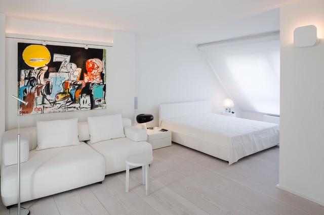 innenarchitektur penthouse berlin skandinavisch schlafzimmer