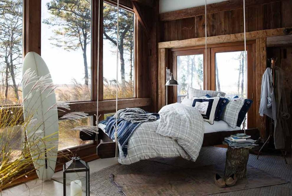 Bedroom - cottage bedroom idea in Hamburg