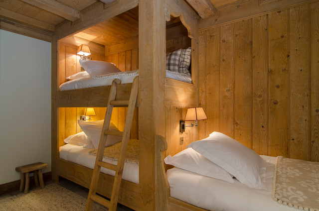 le chalet de courchevel rustikal schlafzimmer. Black Bedroom Furniture Sets. Home Design Ideas