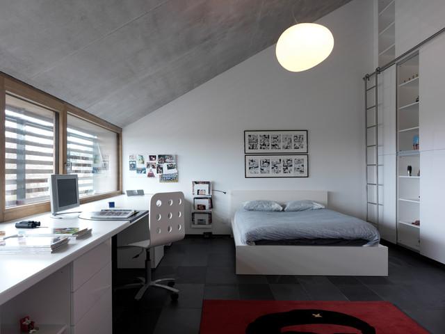 Residential building | Patrick Meisch | Belgium contemporary-bedroom
