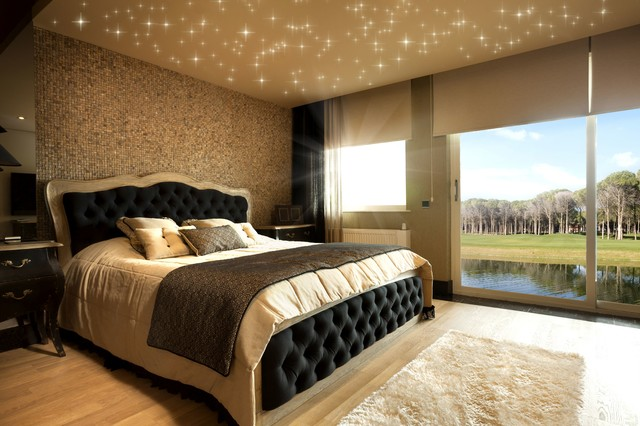 sternenhimmel in decke mit led warmwei modern. Black Bedroom Furniture Sets. Home Design Ideas