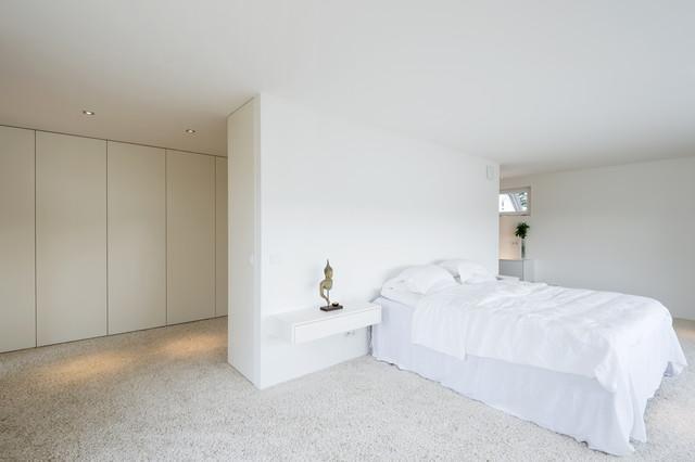 Weißes Schlafzimmer Mit Einbauschränken Modern Schlafzimmer