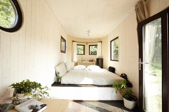Natürlich Wohnen wohnwagon autark natürlich wohnen rustikal schlafzimmer