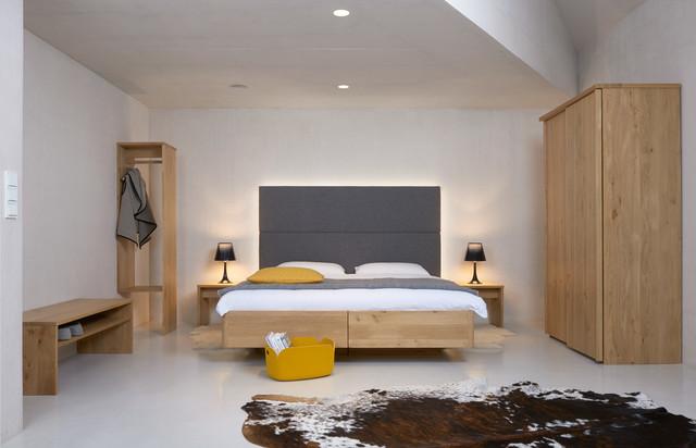 Zirben Box Bett Alpenland Mit Loden Vertäfelung Contemporary