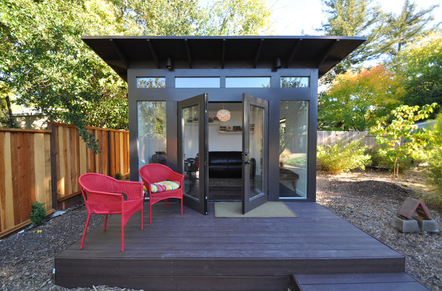 Bay area office 10x12 studio shed lifestyle modern shed