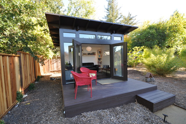 Charming Bay Area Office 10x12: Studio Shed Lifestyle Modern Shed