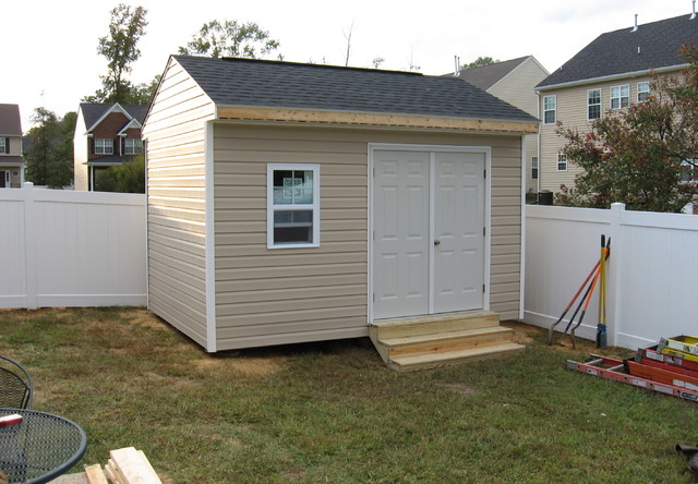10x14 custom site built shed for 10x14 garage door