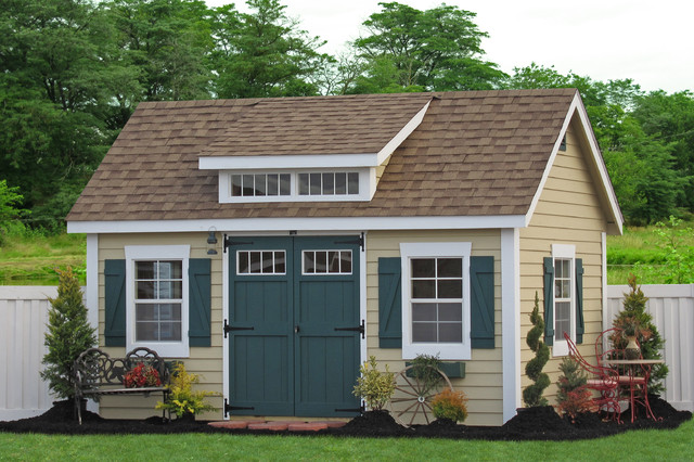 10x14 premier garden shed with dormer traditional shed for Shed with dormer