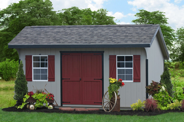 10x16 Saltbox Classic Storage Shed From PA Traditional Shed
