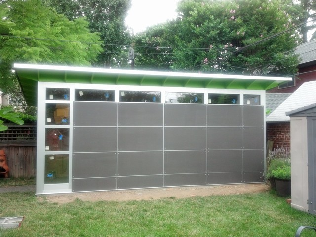 10x20 gorgeous storage shed modern shed dc metro for Prefab garden sheds