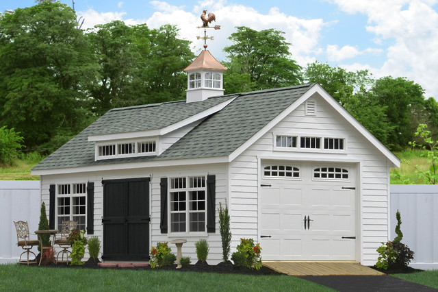 1 Car Garages Amish : Premier detached garages traditional garage and