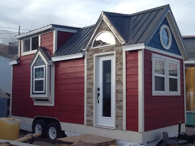 1st Tiny House Build finished exterior Traditional Shed
