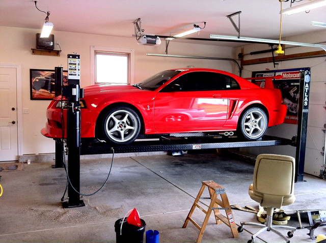 Post Lift for Garage - Garage And Shed - chicago - by Greg Smith ...