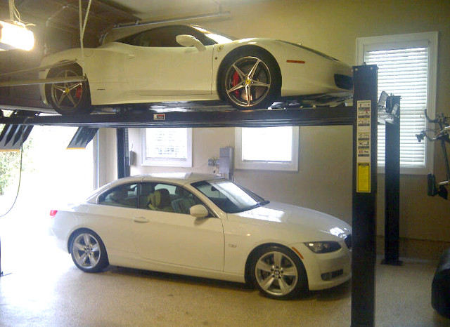 4 Post Storage Lift For 2012 Ferrari Shed