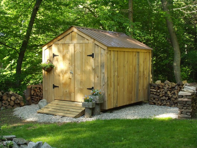 8u0026#39; x 10u0026#39; Vermonter ~ backyard storage shed - Rustic - Garage And Shed - manchester NH - by ...