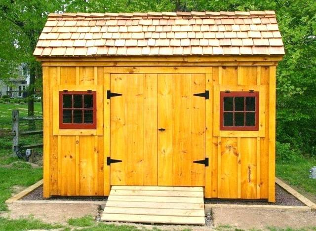 8' x 12' Saltbox Shed ~ Optional cedar shake shingles