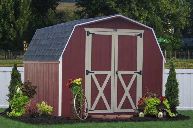 Garden Sheds 8x10 8x10 wooden storage shed from pa - traditional - garden shed and