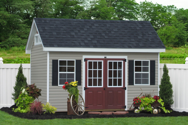 8x14 Premier Garden Shed In Vinyl Traditional Shed