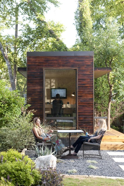 92 Square Foot Backyard Office modern garage and shed